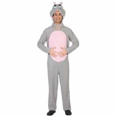Dierenpak verkleed carnavalspak nijlpaard voor volwassenen