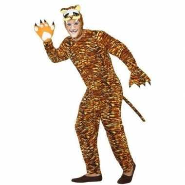 Dierenpak verkleed carnavalspak tijger voor volwassenen
