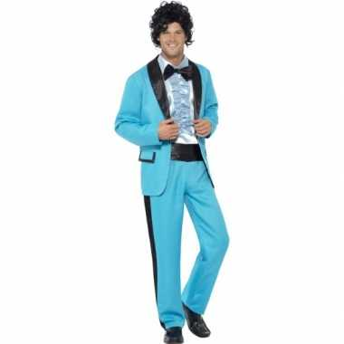 Disco carnavalspak blauw heren