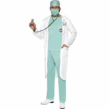 Dokter carnavalspak met jas voor heren