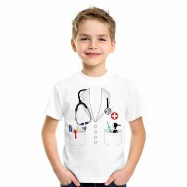 Doktersjas carnavalspak t-shirt wit voor kinderen