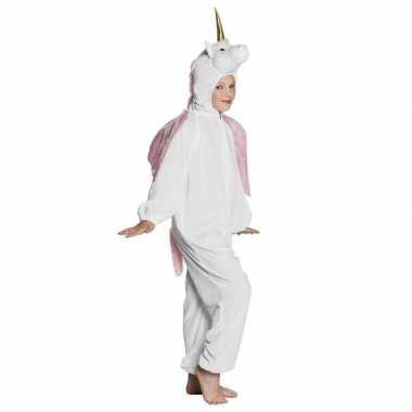 Eenhoorn dieren onesie/carnavalspak voor kinderen wit