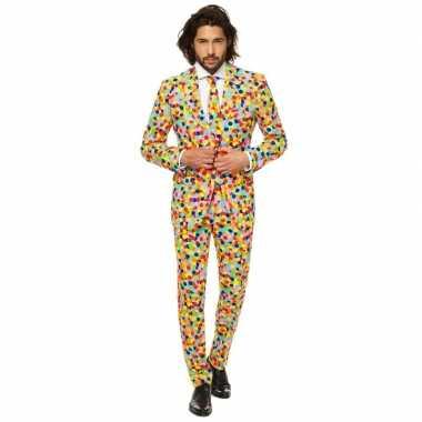 Feest carnavalspak confetti voor heren