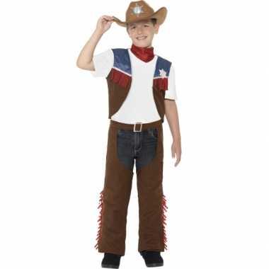 Feest cowboy verkleedcarnavalspak voor jongens
