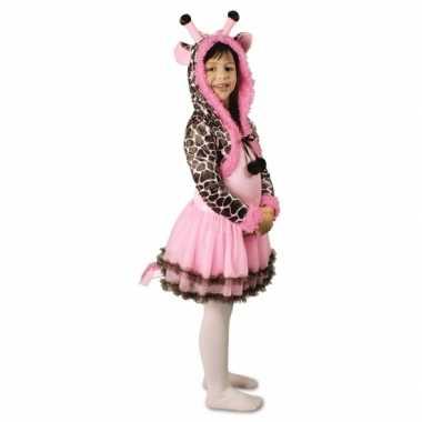 Feest giraffe verkleedcarnavalspak voor meisjes