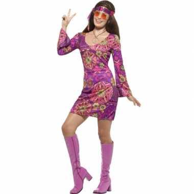 Feest hippie verkleedcarnavalspak voor dames