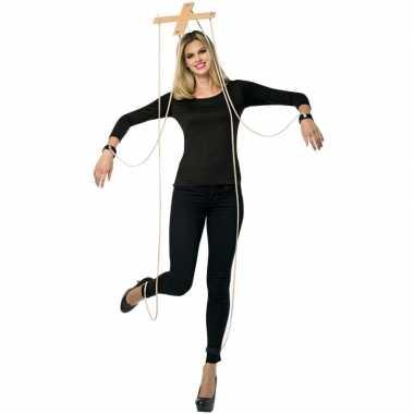 Feest marionette verkleedcarnavalspak kruis