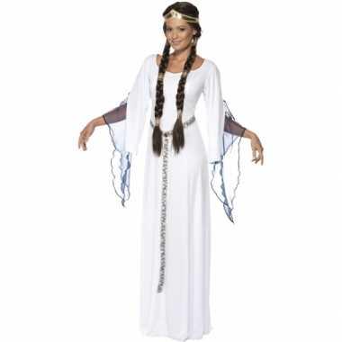 Feest middeleeuwse witte verkleedcarnavalspak voor dames