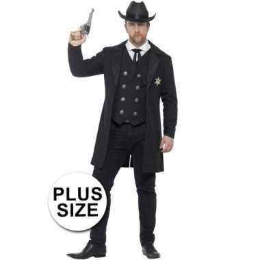 Feest sheriff verkleedcarnavalspak voor heren