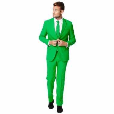 Fel groen carnavalspak pak voor heren