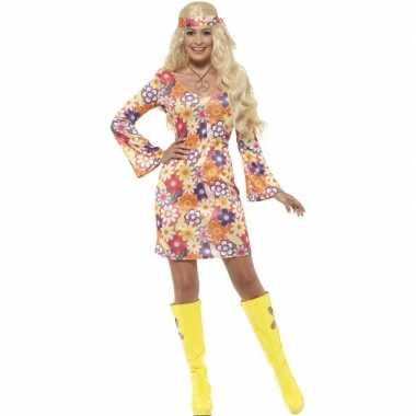 119a50b7a4a0a9 Flower power hippie dames sixties carnavalspak