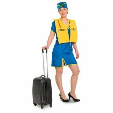 Funny stewardess carnavalspak voor dames
