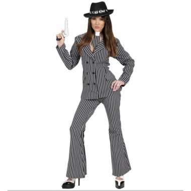 Gangster carnavalspak voor dames