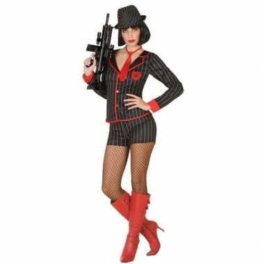 Gangster verkleed carnavalspak voor dames