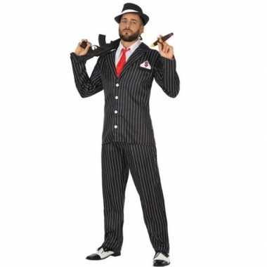 Gangster verkleed carnavalspak voor heren