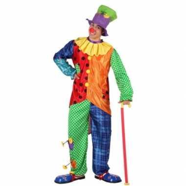 Gekleurd clowns carnavalspak voor mannen