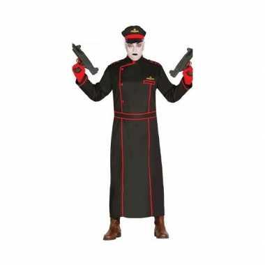Gestapo verkleedcarnavalspak in het zwart