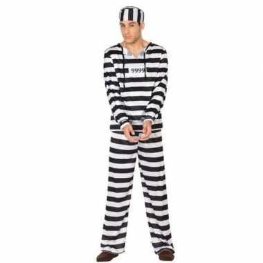 Gevangene/boef clyde verkleed carnavalspak voor heren