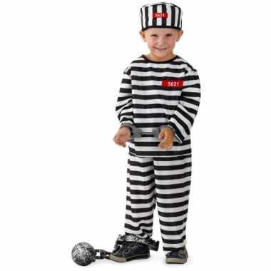 Gevangene carnavalspak voor jongens