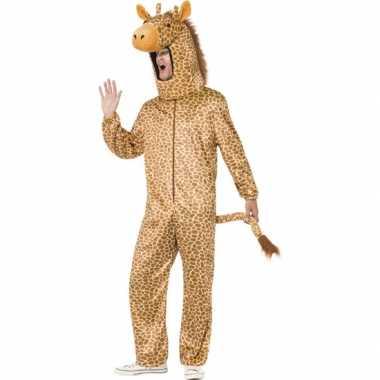 Giraffe carnavalspak voor volwassenen
