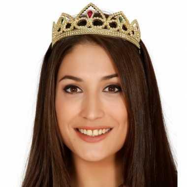 Goud carnavalskroontje voor een prinses