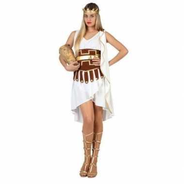 Griekse godin verkleed carnavalspak/jurk wit/goud voor dames