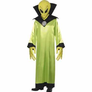 Groen alien carnavalspak volwassenen