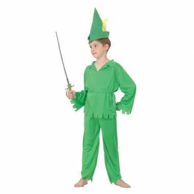 Groen elfjes carnavalspak voor jongens