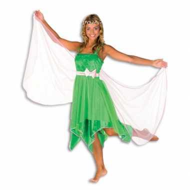 Groene elfen carnavalspak dames