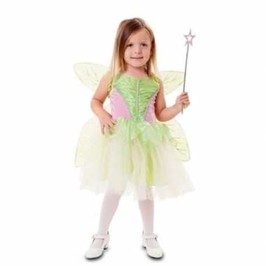 Groene fee carnavalspak voor meisjes