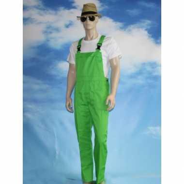 Groene tuinbroek carnavalspakl voor volwassenen