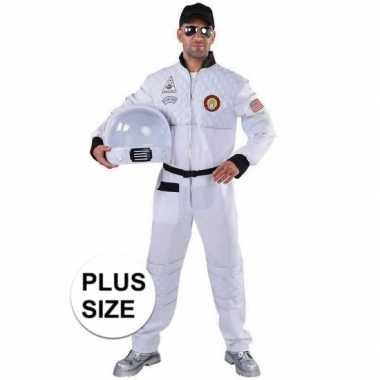 Grote maat astronaut verkleed carnavalspak voor heren