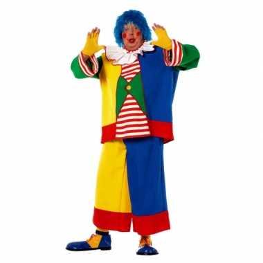 Grote maat clowns carnavalspak voor heren