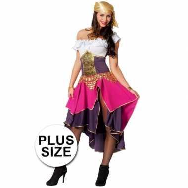 Grote maat feest zigeunerin verkleedcarnavalspak voor dames