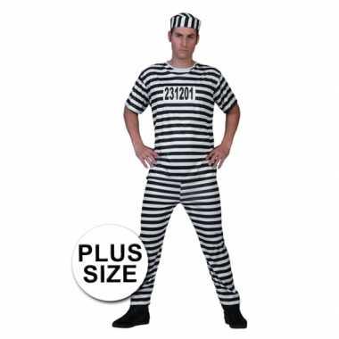Grote maat gevangenen carnavalspak
