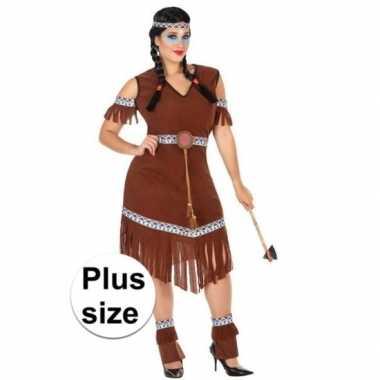 Grote maat indianen nahele verkleed pak/carnavalspak voor dames