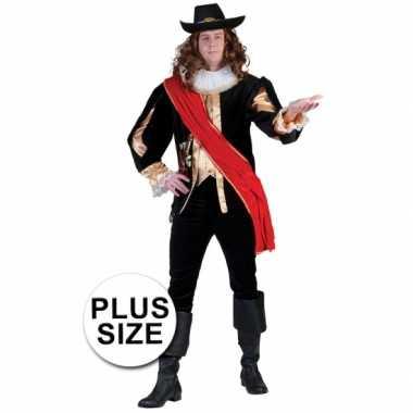 Grote maten carnavals musketierspak voor mannen