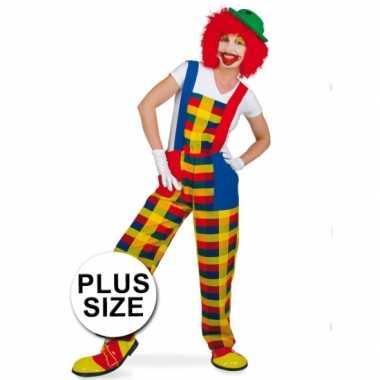 Grote maten clown pebbi verkleedcarnavalspak voor volwassenen