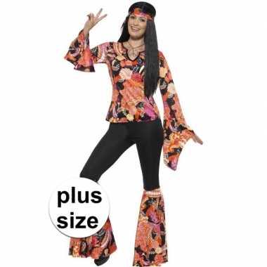 Grote maten hippie carnavalspak willow voor dames