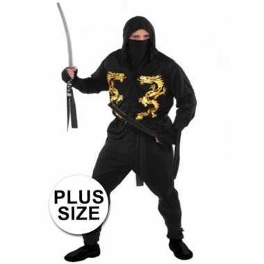 Grote maten ninja carnavalspak voor heren