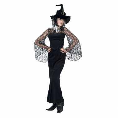 Halloween carnavalspak zwarte heks