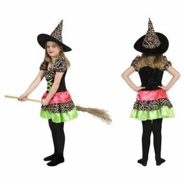 Heksen carnavalspak jurk incl. hoed