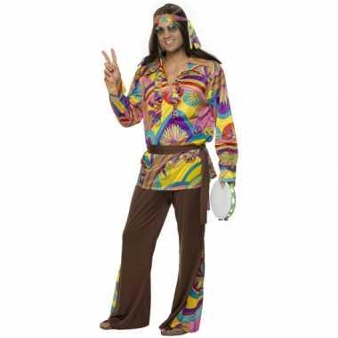 Heren hippie carnavalspak carnaval