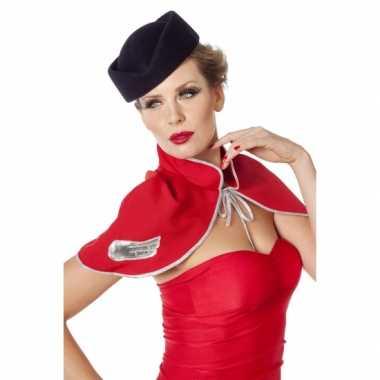 Hoedje voor bij een stewardes carnavalspak