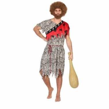 Holbewoner/caveman thag verkleed carnavalspak heren