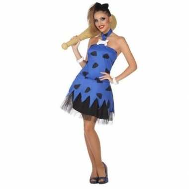 Holbewoonster/cavewoman betty verkleed carnavalspak/jurk voor dames