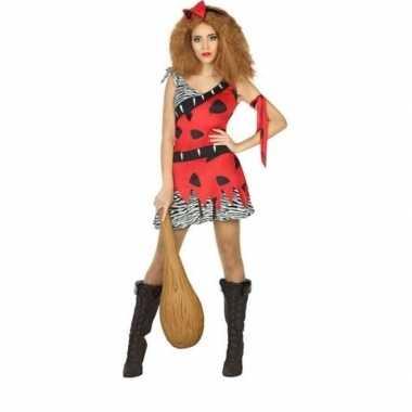 Holbewoonster/cavewoman loana verkleed carnavalspak/jurk dames
