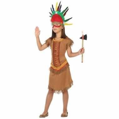 Indiaan/indianen jurk/jurkje verkleed carnavalspak voor meisjes