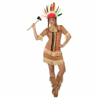 Indianen manipi verkleed jurkje/carnavalspak voor dames