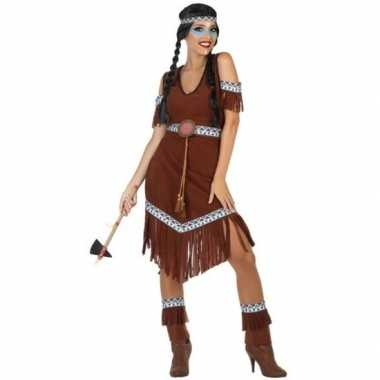 Indianen nahele verkleed pak/carnavalspak voor dames